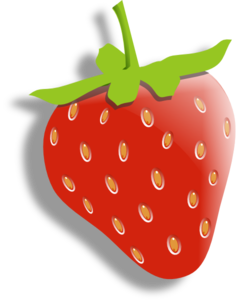 Strawberry (with Alpha Shadow) Clip Art at Clker.com.
