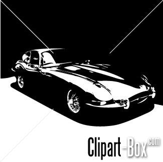 CLIPART JAGUAR TYPE E.