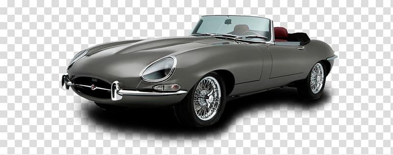 Gray convertible coupe illustration, Grey E Type Jaguar.