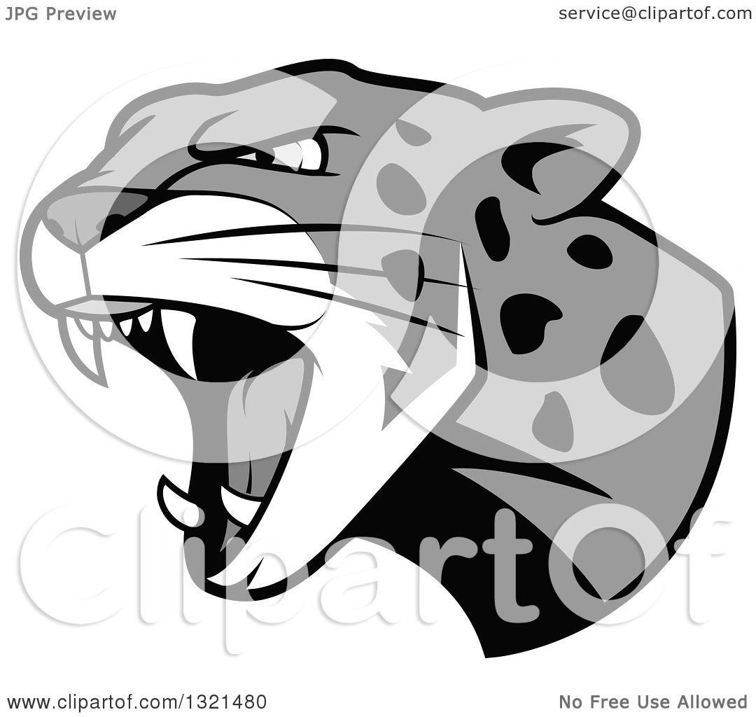 Jaguar Head Clip Art.