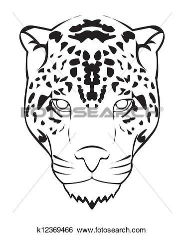 Clip Art of jaguar face k12369466.