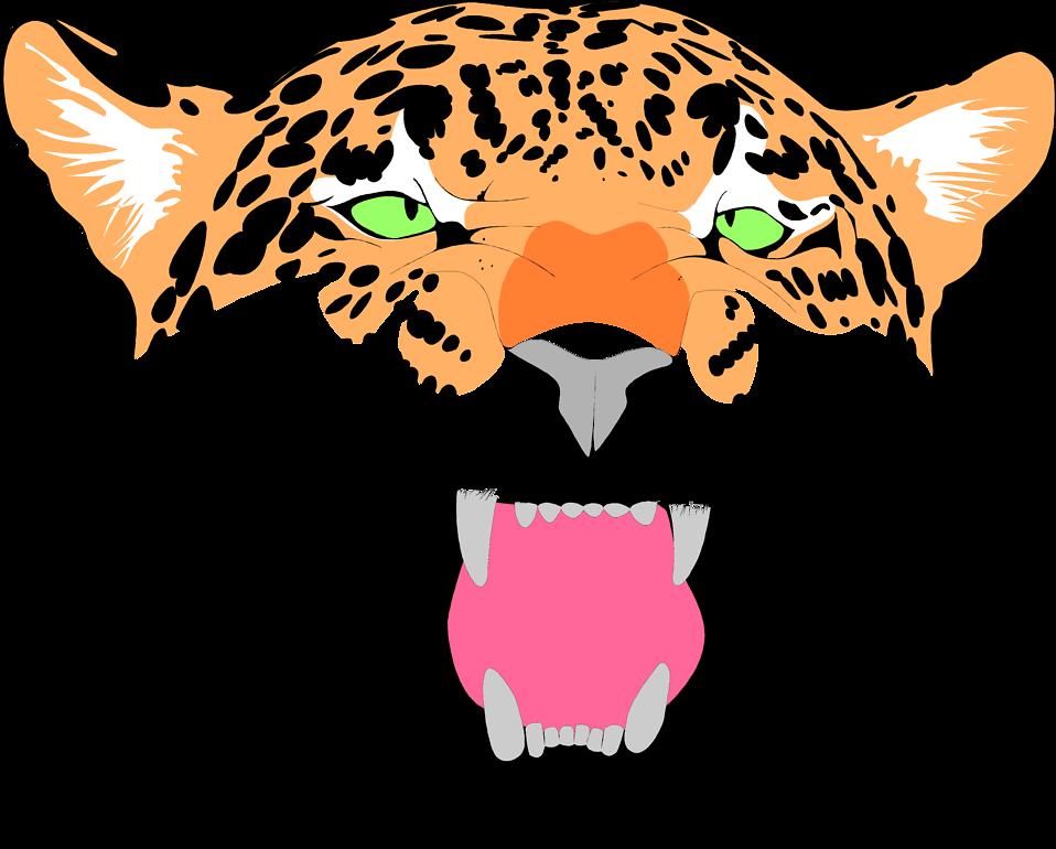 Jaguar Face Clip Art.