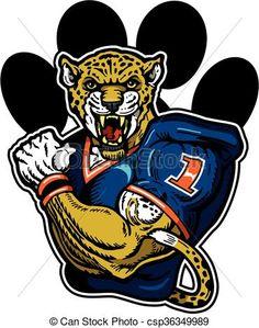 Vector of jaguar football.