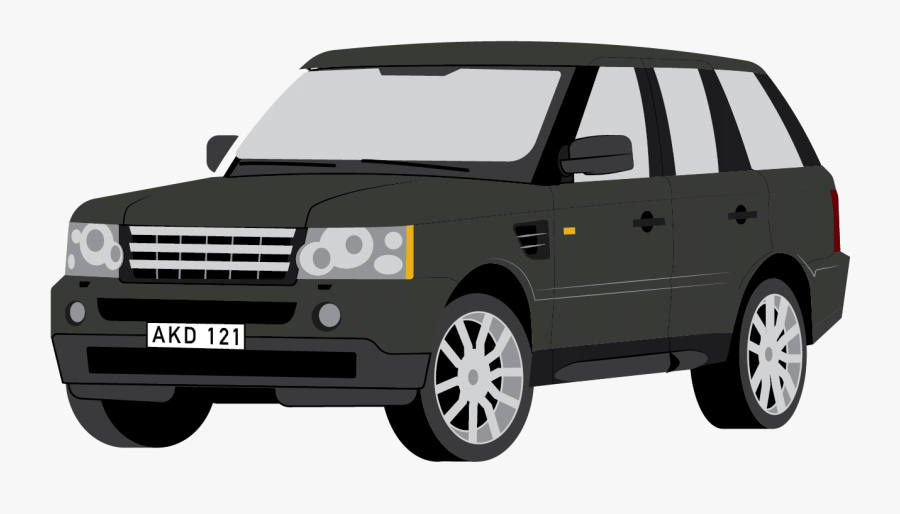 Land Rover Clipart Black And White.