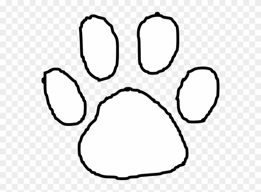 Tiger Paw Print Outline Clip Art.