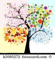 Jahreszeiten Clip Art und Illustrationen. 422.460 jahreszeiten.