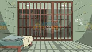 A Prison Cell Background.