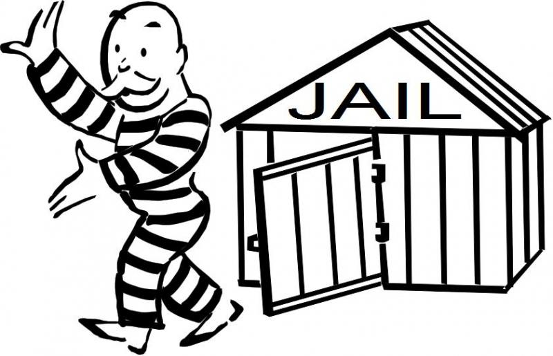 Free From Jail Clipart.