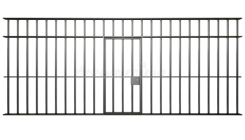 Jail Cell Bars Stock Illustrations.