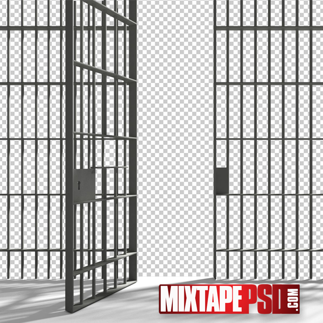 Prison Cell Bars Template.