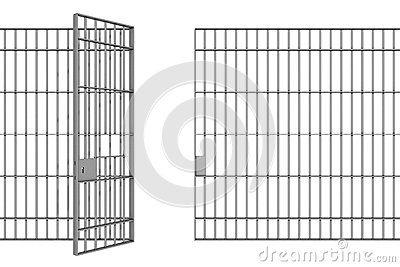 Jail Cell Open Door Stock Illustrations.