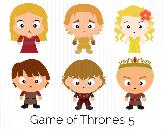 Game of Thrones Clipart Cersei Lannister Jaime by CozyBearStudio.
