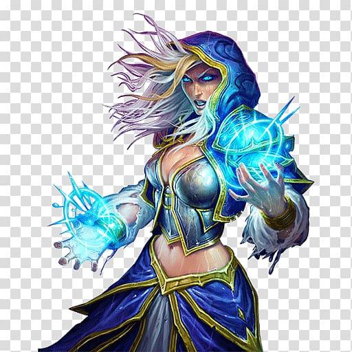 Dota 2 Crystal Maiden illustration, Hearthstone Desktop.