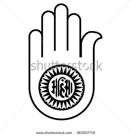 Jain Religion Clipart.