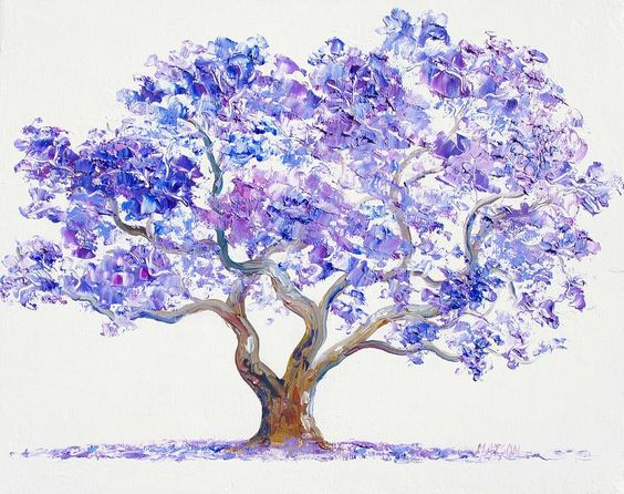 Jacaranda Tree Painting by Jan Matson.
