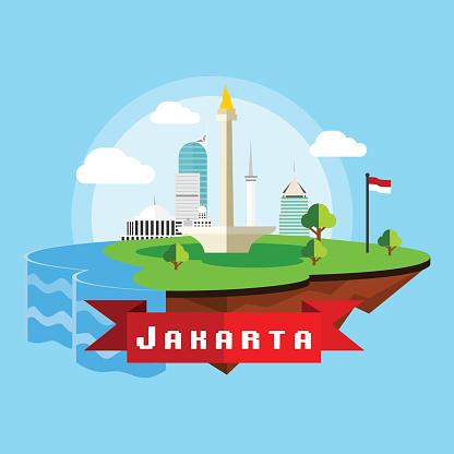Jakarta Clip Art, Vector Images & Illustrations.