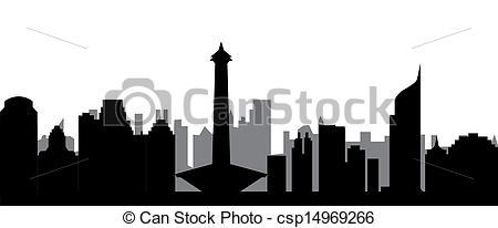 Stock Image of jakarta skyline csp14969266.