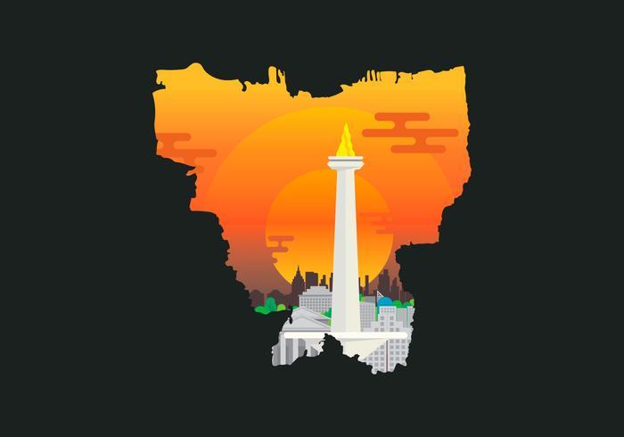 Monas Jakarta Illustration.