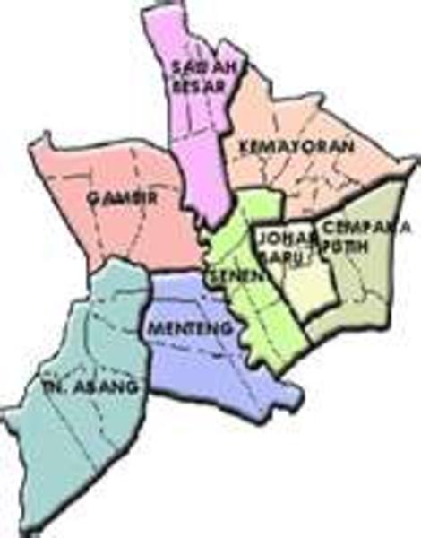 Central Jakarta Map.