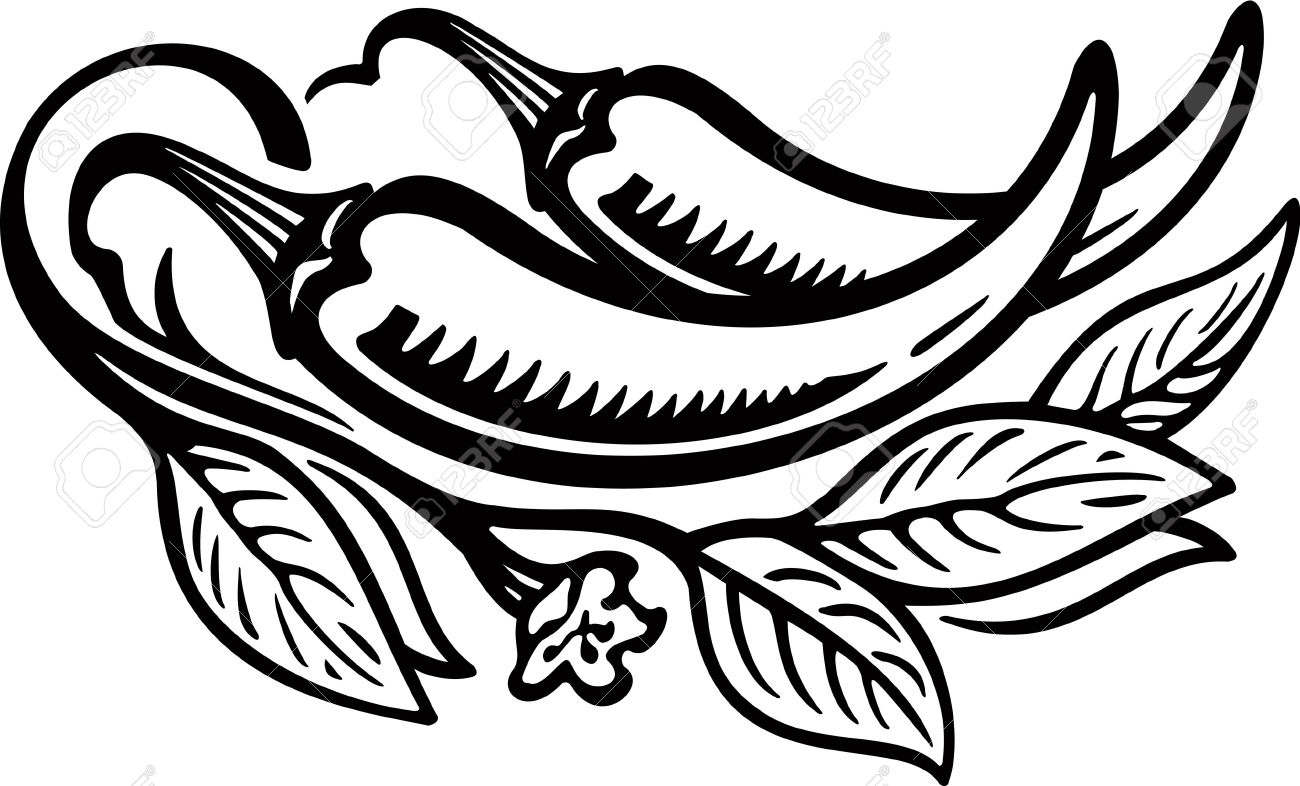 Free Jalapeno Clipart Black And White, Download Free Clip.