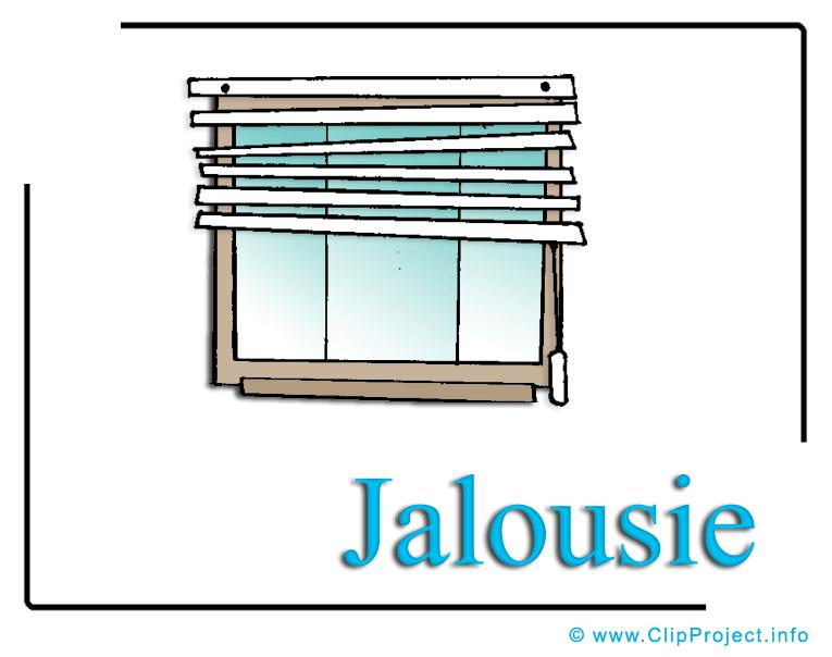 Jalousie Bild.