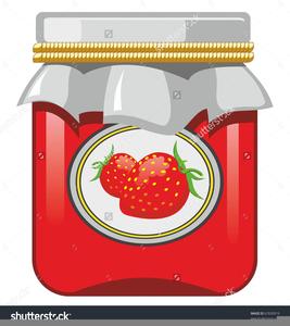 Strawberry Jam Clipart.