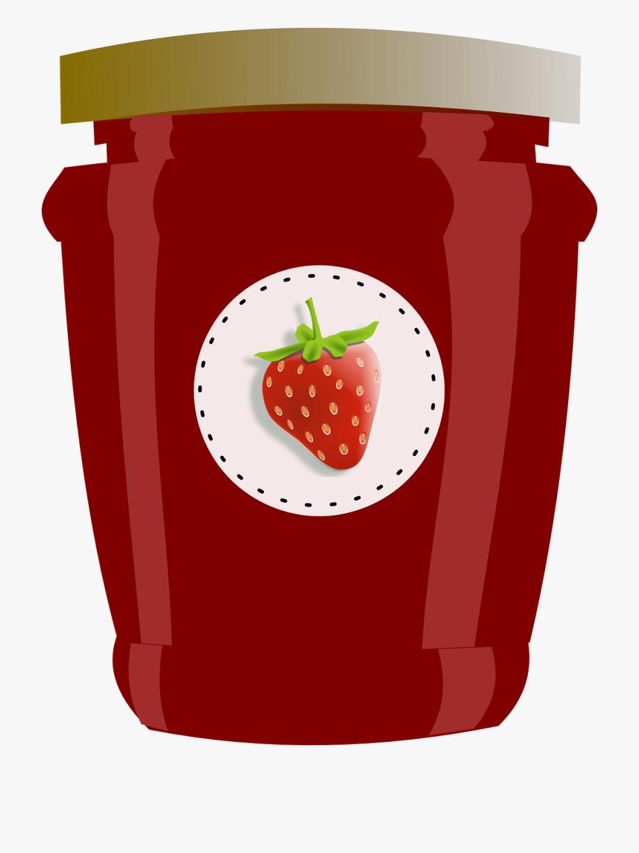 Strawberry, Jar, Jam, Jelly, Preserves, Label.