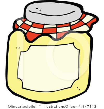 Jam jar clipart.