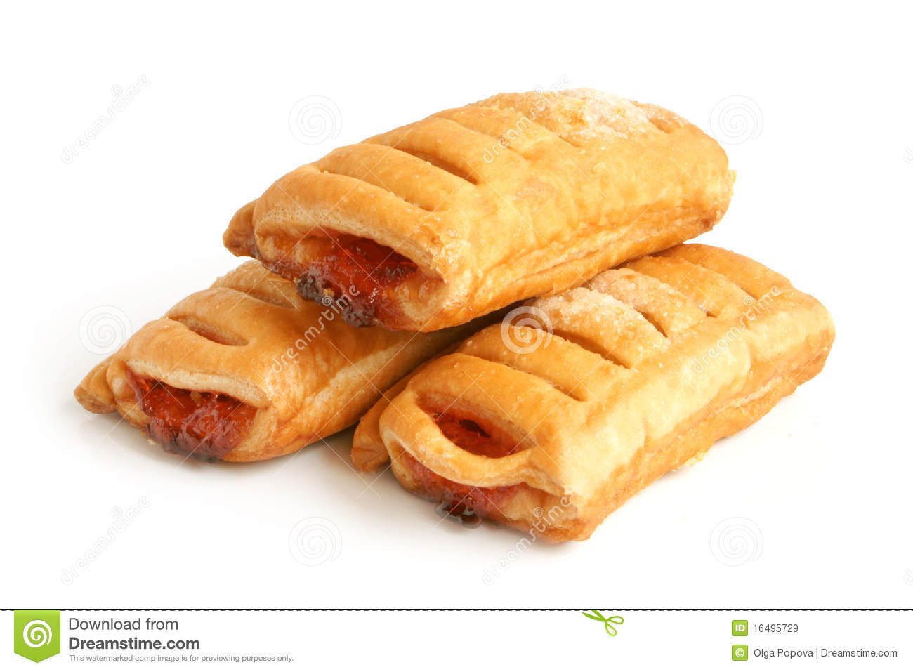 Puff Pastry With Jam Royalty Free Stock Images.