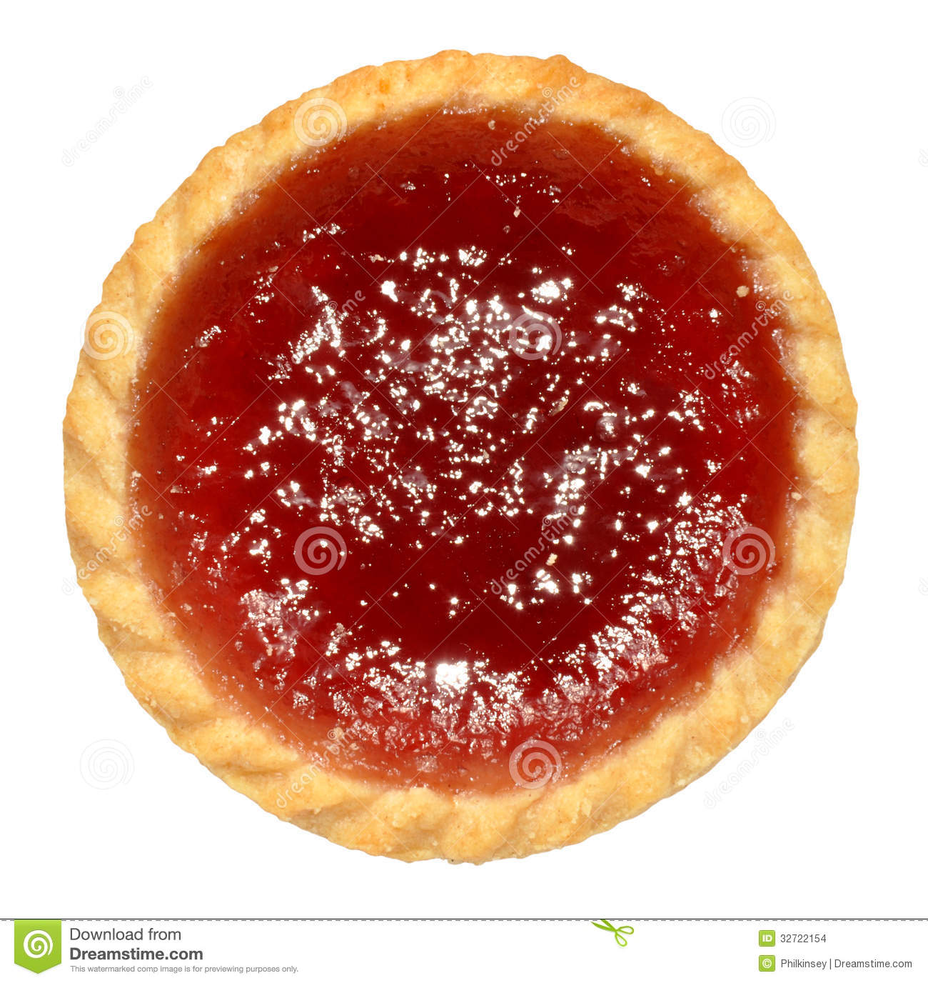 Raspberry Jam Tart Stock Images.