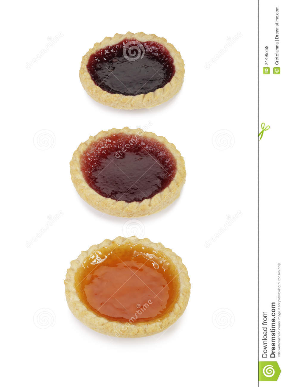 Jam Tarts. Royalty Free Stock Photos.