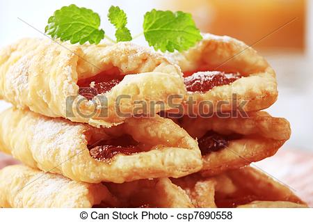 Pictures of Jam pastries.