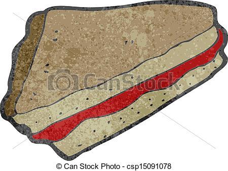 Vectors Illustration of retro cartoon jam sandwich csp15091078.