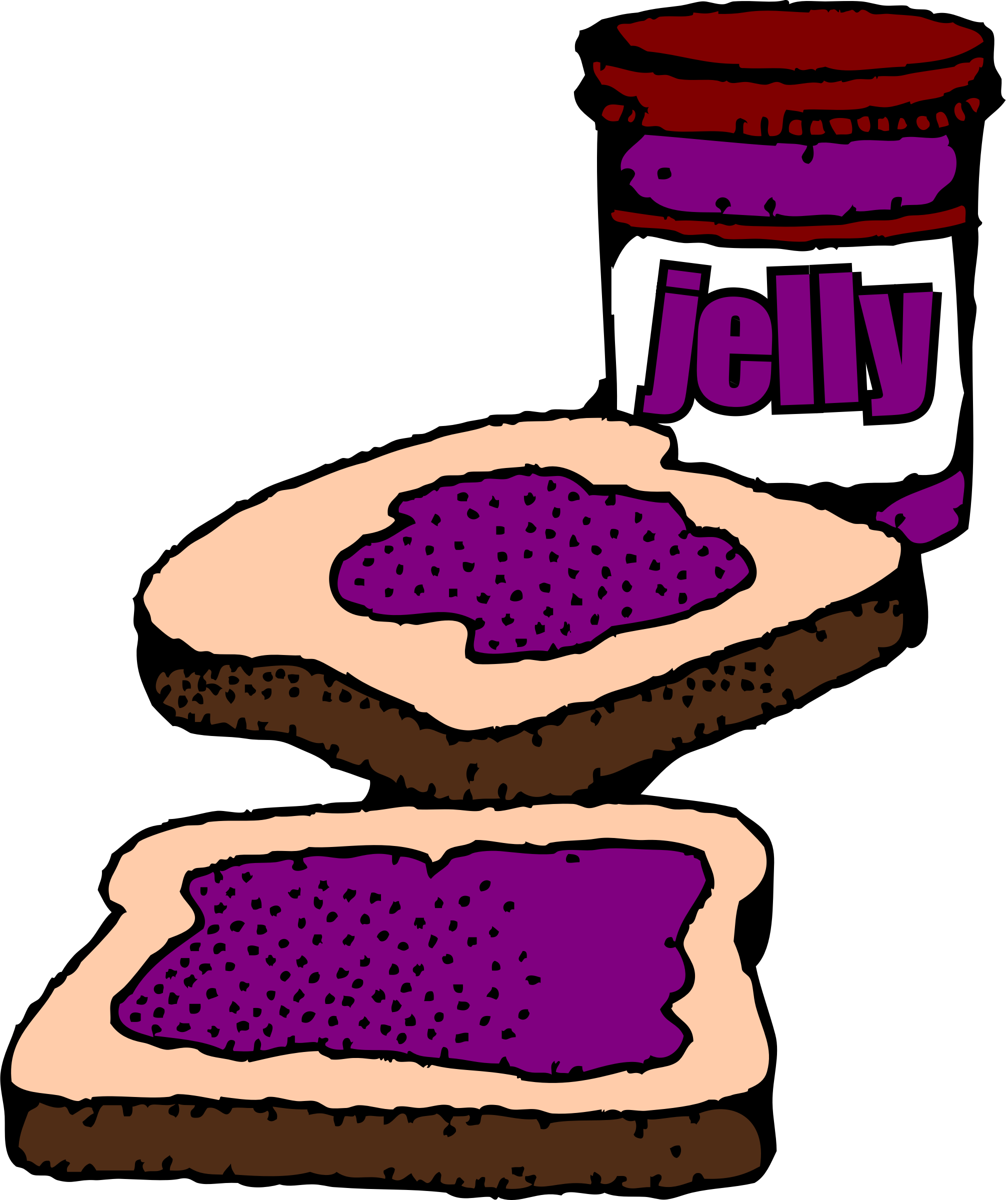 Peanut Butter And Jam Sandwich Clipart.