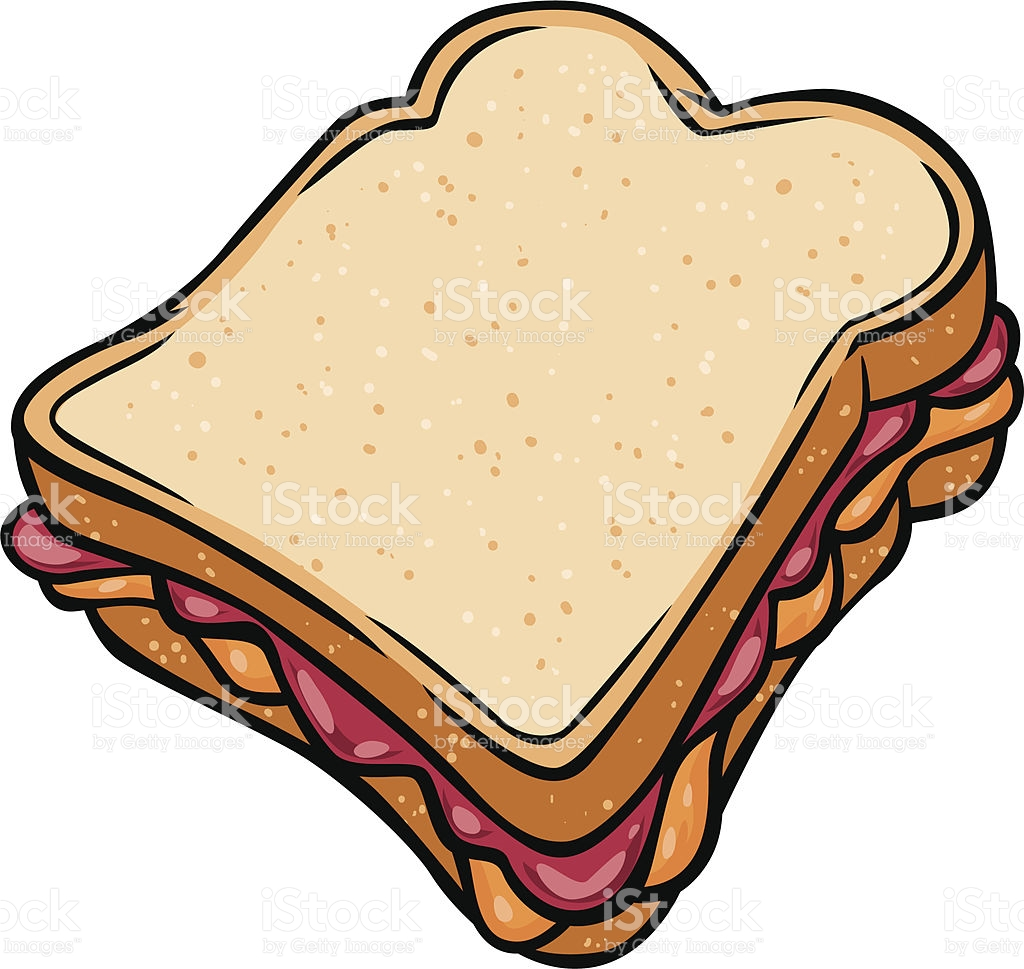 Jam sandwich clipart.
