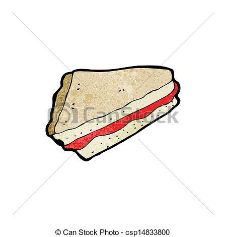 Vector Clipart of jam sandwich cartoon csp14833800.