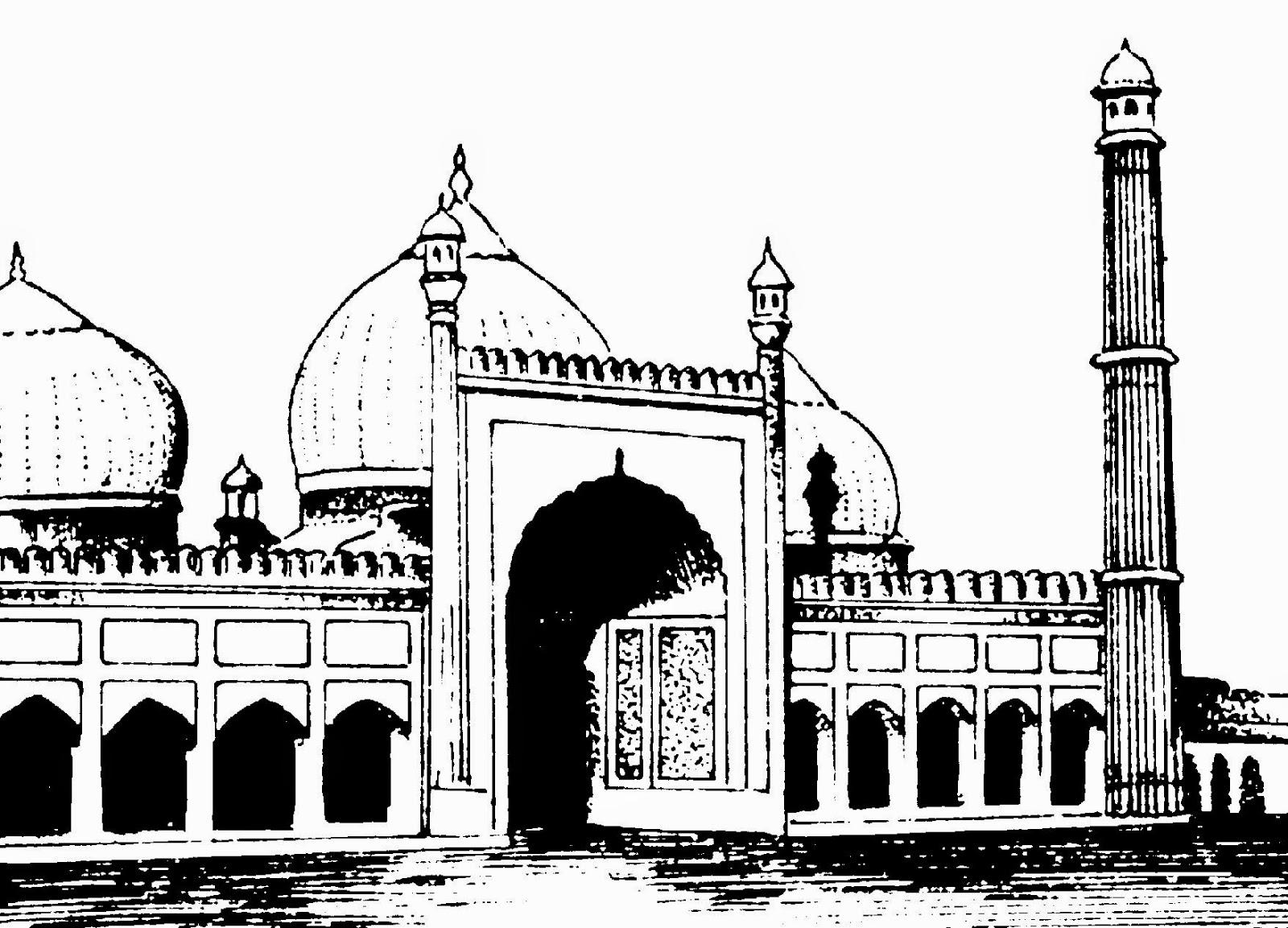 Jama masjid hd clipart.