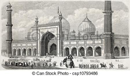 Stock Illustration of Jama Masjid.
