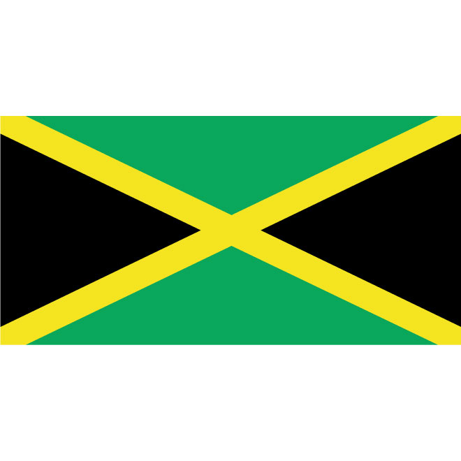 Jamaican vector flag.