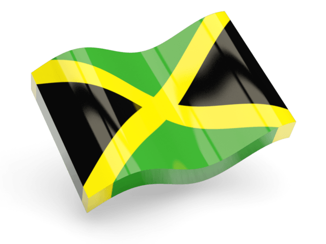 Jamaica Flag Icon Wave transparent PNG.