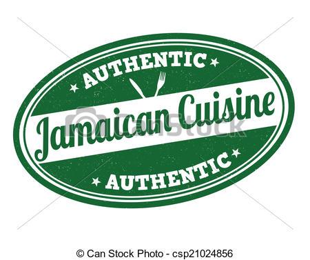 Jamaican cuisine stamp.