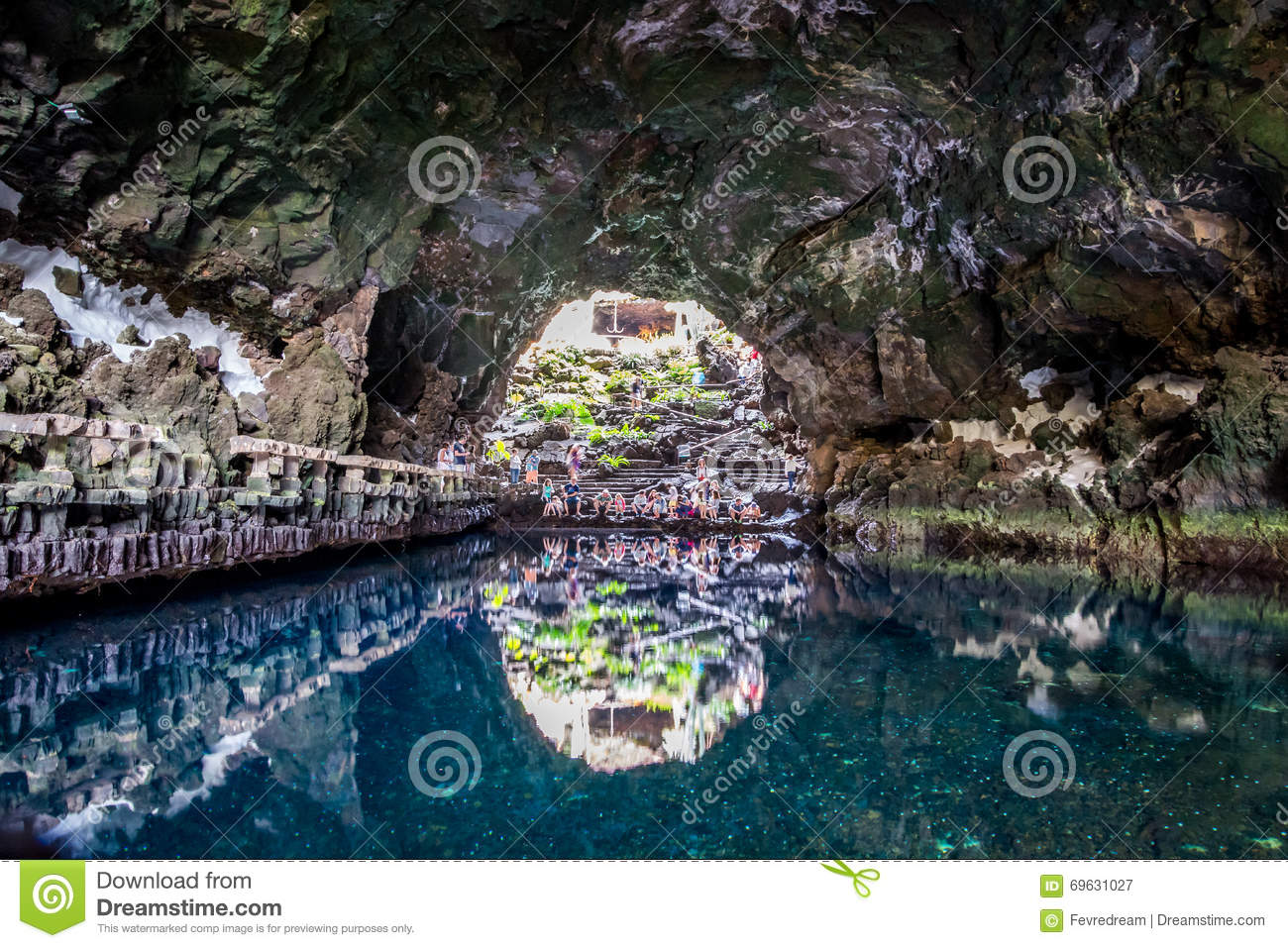Jameos Del Aqua, An Amazing Lava Cave Adapted By Cesar Manrique.