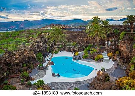 Stock Photograph of Spain , Canary Islands , Lanzarote Island.