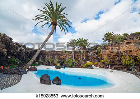 Stock Photo of Jameos del agua lanzarote. k18028853.