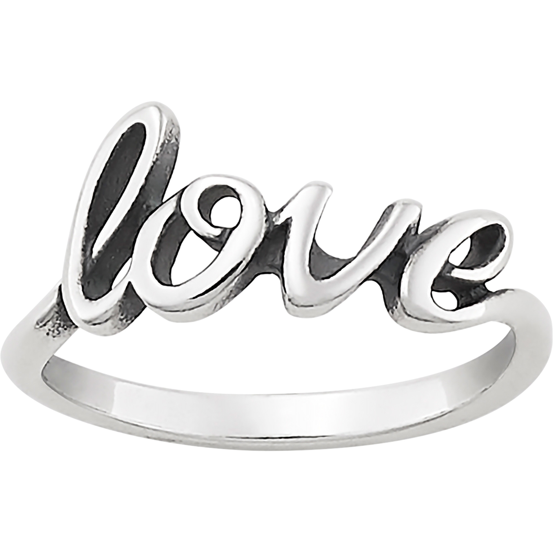 James Avery Sterling Silver Love Script Ring.