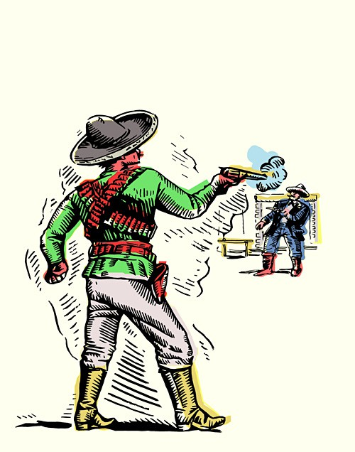 The Assassination of Sheriff James Barton by the Mexican Juan.