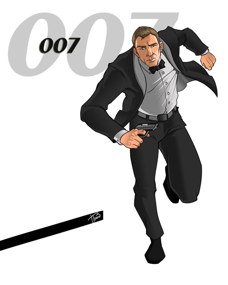 Clipart James Bond.