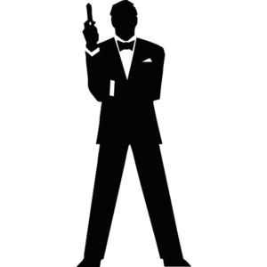 James bond 007 clipart.