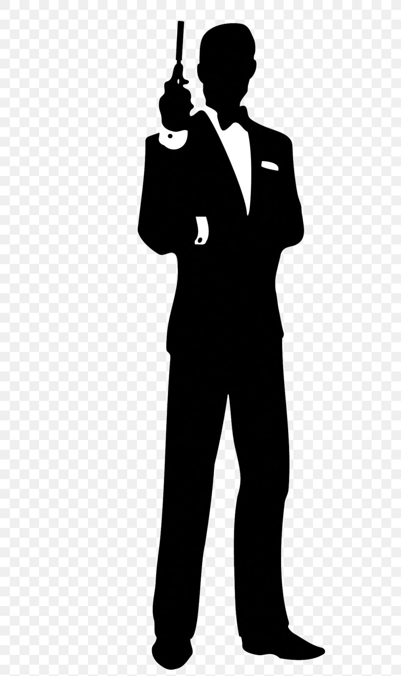 James Bond Film Series Silhouette Clip Art, PNG, 578x1383px.