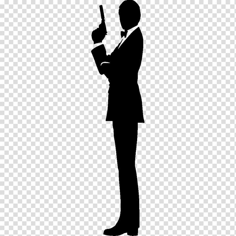 James Bond Film Series Silhouette , james bond transparent.